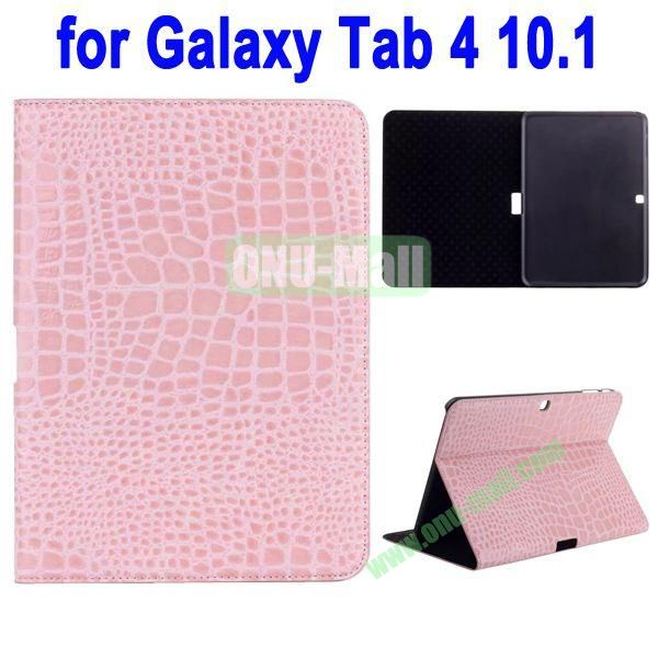 Crocodile Skin Texture Leather Case for Samsung Galaxy Tab 4 10.1 T530 (Pink)