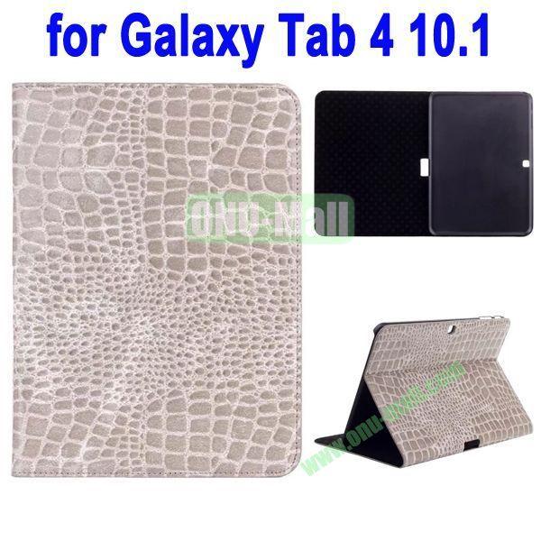 Crocodile Skin Texture Leather Case for Samsung Galaxy Tab 4 10.1 T530 (Grey)