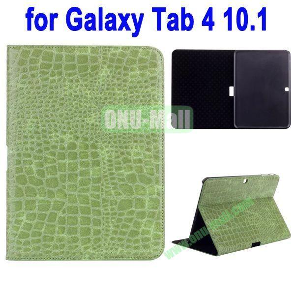 Crocodile Skin Texture Leather Case for Samsung Galaxy Tab 4 10.1 T530 (Green)