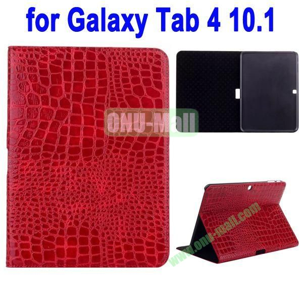 Crocodile Skin Texture Leather Case for Samsung Galaxy Tab 4 10.1 T530 (Red)