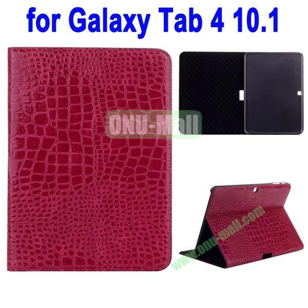 Crocodile Skin Texture Leather Case for Samsung Galaxy Tab 4 10.1 T530 (Rose)