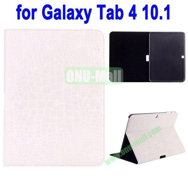 Crocodile Skin Texture Leather Case for Samsung Galaxy Tab 4 10.1 T530 (Beige)