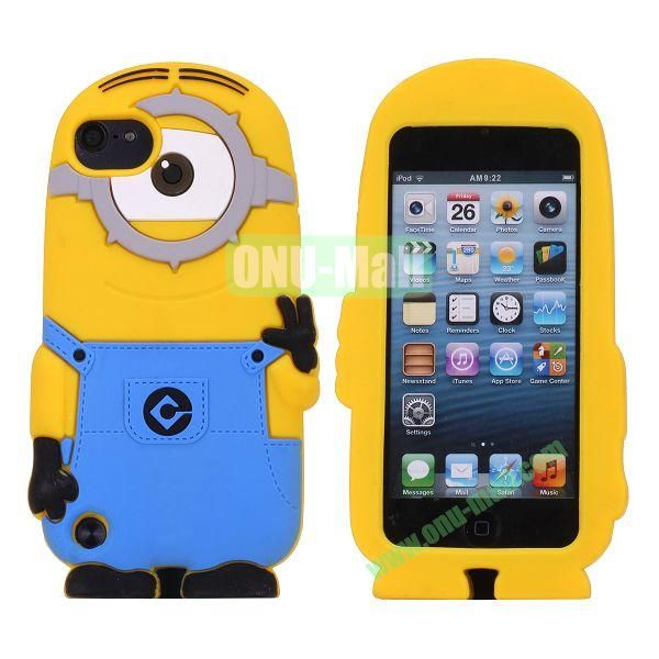 3D Cartoon Despicable Me Minions Silicone Case for iPod Touch 5