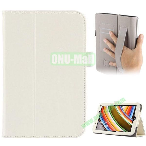 Universal PU Leather Case Cover for Toshiba Encore 2 WT8 with Card Slots and Stand (White)