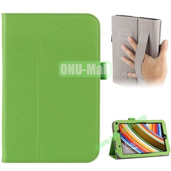 Universal PU Leather Case Cover for Toshiba Encore 2 WT8 with Card Slots and Stand (Green)