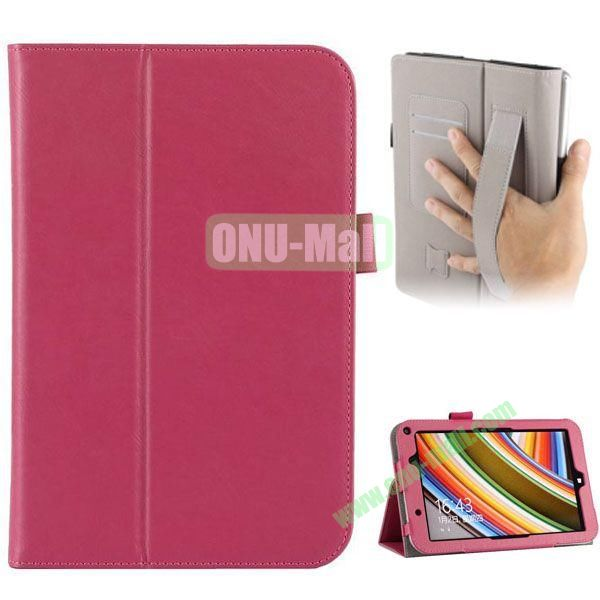 Universal PU Leather Case Cover for Toshiba Encore 2 WT8 with Card Slots and Stand (Pink)