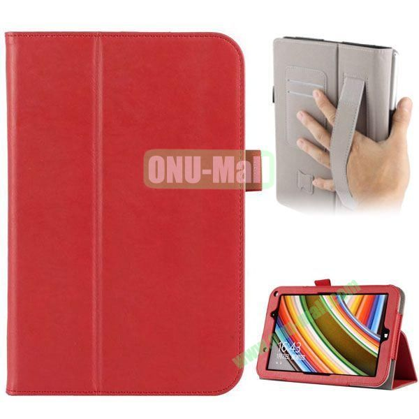 Universal PU Leather Case Cover for Toshiba Encore 2 WT8 with Card Slots and Stand (Red)