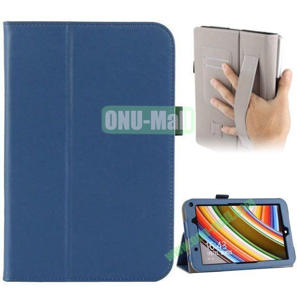 Universal PU Leather Case Cover for Toshiba Encore 2 WT8 with Card Slots and Stand (Blue)