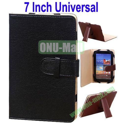 Universal Leather Case for 7 Inch Tablet PC with Holder (Black)