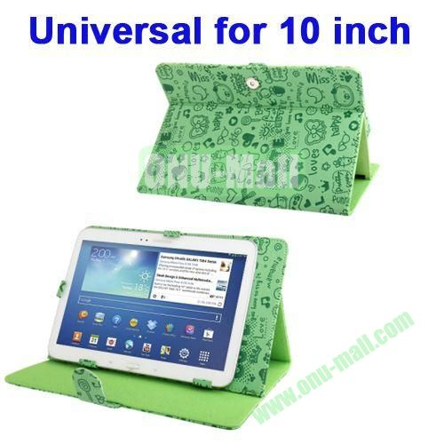 Magic Girl Style Universal Leather Case with Holder for 10.1 inch Tablet PC (Green)