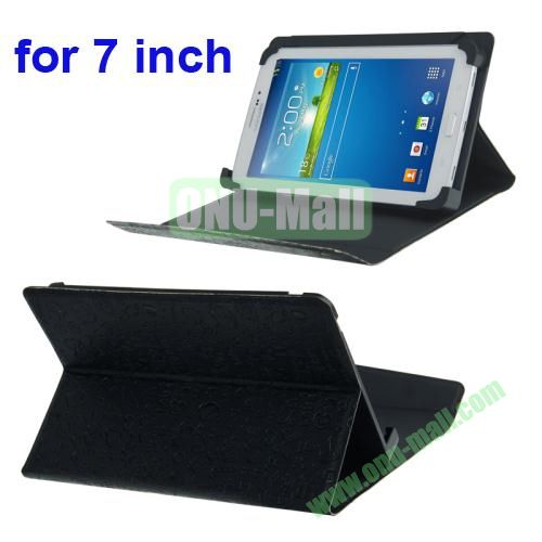 Magic Girl Pattern Universal Leather Case for 7 inch Tablet PC with Holder (Black)