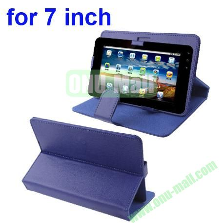 Universal Litchi Texture Leather Case for 7 inch Tablet PC with Holder (Purple)