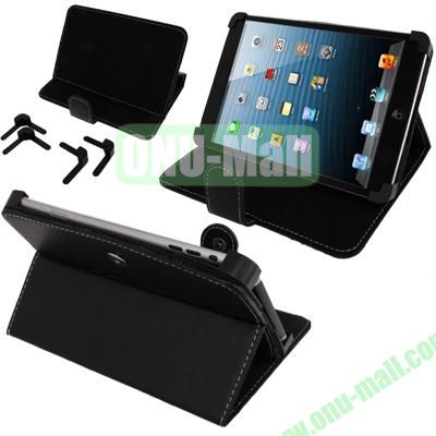 Litchi Texture Universal Removeable Leather Case for 7 inch Tablets (Black)