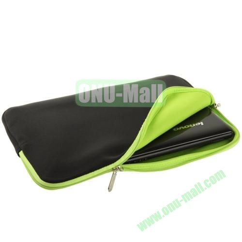 Soft Sleeve Zipper Bag for 14 inch Laptop (Green)