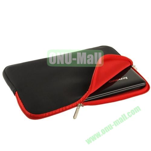 Soft Sleeve Zipper Bag for 14 inch Laptop (Red)