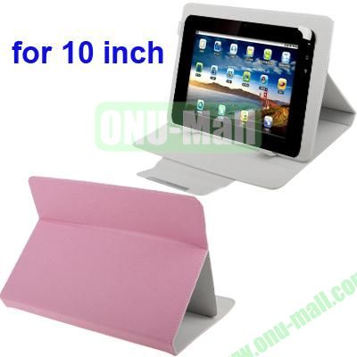 Universal Adjustable Leather Case for 1010.1 inch Tablet PC (Pink)