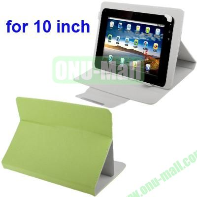 Universal Adjustable Leather Case for 1010.1 inch Tablet PC (Green)