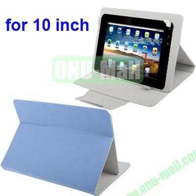 Universal Adjustable Leather Case for 1010.1 inch Tablet PC (Blue)