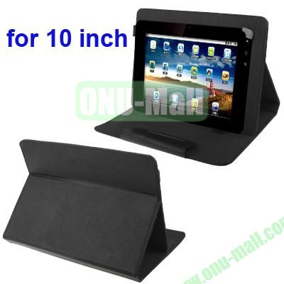 Universal Adjustable Leather Case for 1010.1 inch Tablet PC (Black)