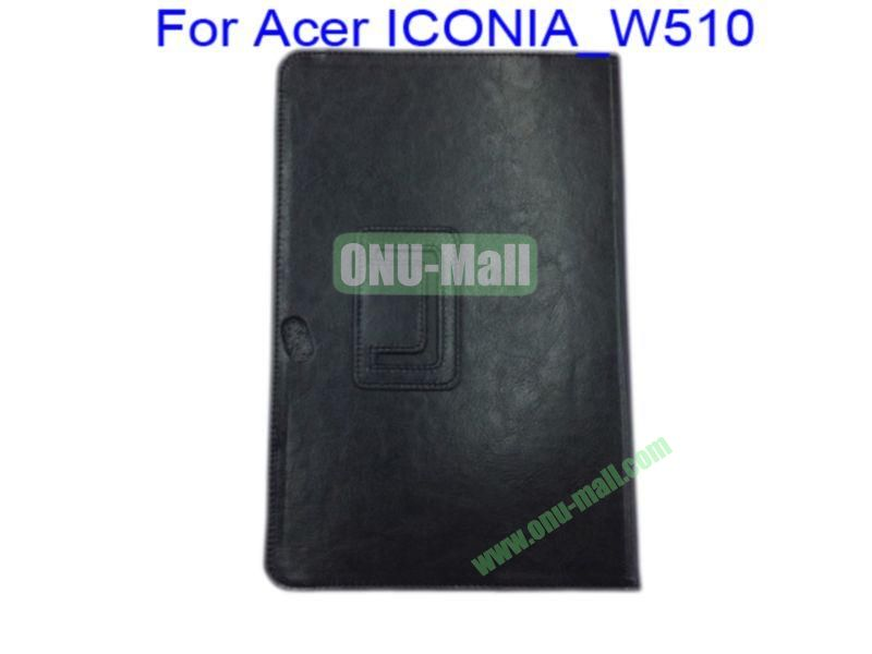 Litchi Lines Leather Case Cover for Acer ICONIA_W510(Black)
