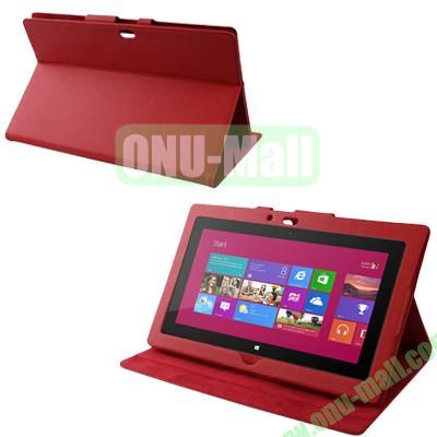 Wholesale Leather Case Cover With Stand For Microsoft Surface RT (Red)