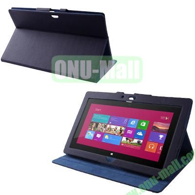 Wholesale Leather Case Cover With Stand For Microsoft Surface RT (Dark Blue)