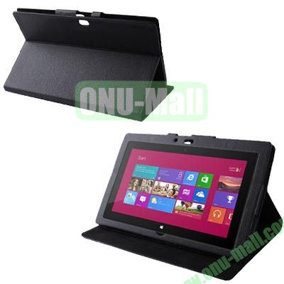 Wholesale Leather Case Cover With Stand For Microsoft Surface RT (Black)