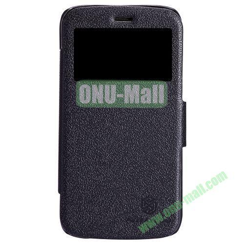 Nillkin Litchi Texture Caller ID Display Window Leather Case for Motorola Moto G  XT1032  XT103 (Black)