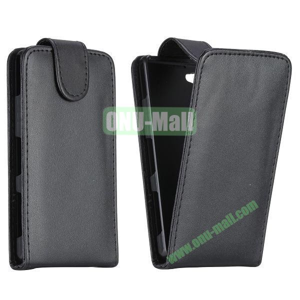 Vertical Flip Magnetic PU Leather Case for Sony Xperia Z1 Mini  Xperia Z1 (Black)
