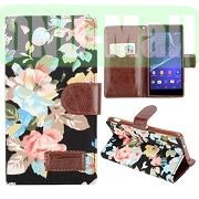 Elegant Flowers Design Wallet Pattern Flip Leather Case for Sony Xperia Z2 L50w D6502 D6503