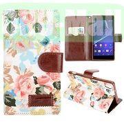 Smart Flowers Design Wallet Pattern Flip Leather Case for Sony Xperia Z2 L50w D6502 D6503