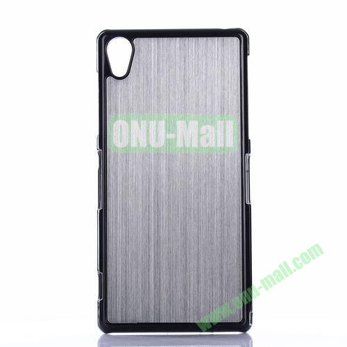 Brushed Pattern Aluminium Coated PC Hard Case for Sony Xperia Z2 L50W D6502 D6503 (Grey)