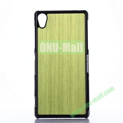 Brushed Pattern Aluminium Coated PC Hard Case for Sony Xperia Z2 L50W D6502 D6503 (Green)