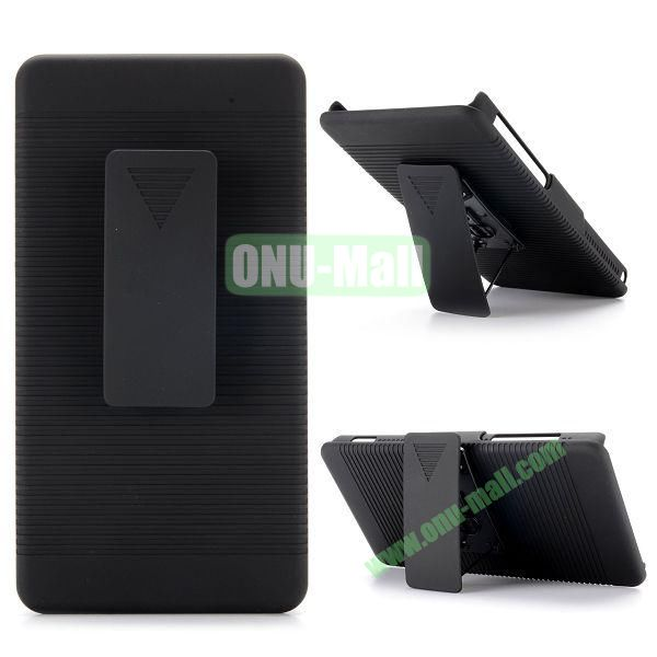 2 in 1 Belt Clip Detachable Holster Combo PC Hard Case for Sony Xperia Z2a D6563 with Kickstand
