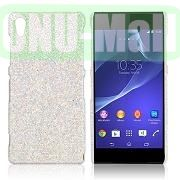 Shimmering Glitter Powder PC Hard Case for Sony Xperia Z2L50W D6502 D6503 (Silver)