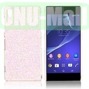 Shimmering Glitter Powder PC Hard Case for Sony Xperia Z2L50W D6502 D6503 (Light Pink)