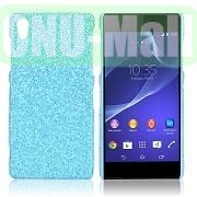 Shimmering Glitter Powder PC Hard Case for Sony Xperia Z2L50W D6502 D6503 (Baby Blue)