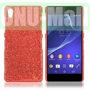 Shimmering Glitter Powder PC Hard Case for Sony Xperia Z2L50W D6502 D6503 (Red)