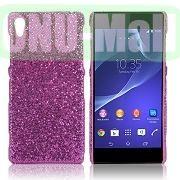 Shimmering Glitter Powder PC Hard Case for Sony Xperia Z2L50W D6502 D6503 (Purple)