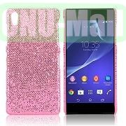 Shimmering Glitter Powder PC Hard Case for Sony Xperia Z2L50W D6502 D6503 (Pink)