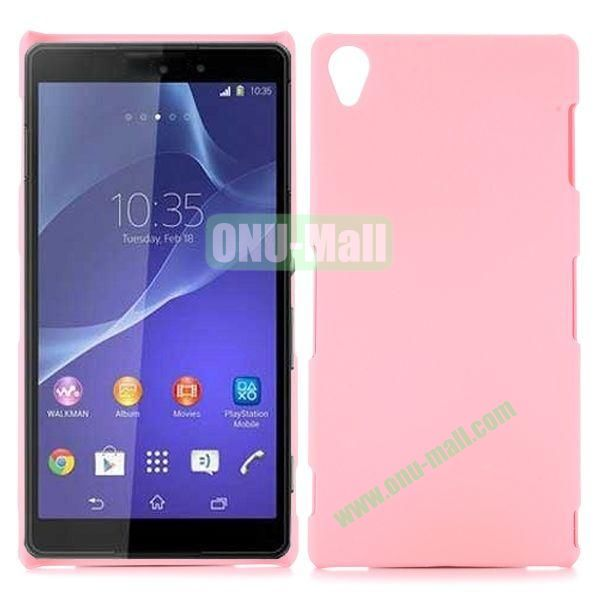 Rubber Coated Matte Hard Case for Sony Xperia Z3 D6603 D6653 (Pink)