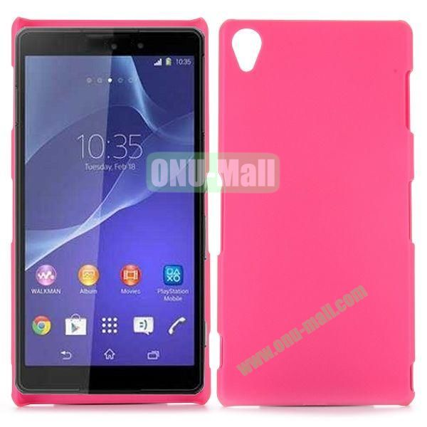 Rubber Coated Matte Hard Case for Sony Xperia Z3 D6603 D6653 (Rose)