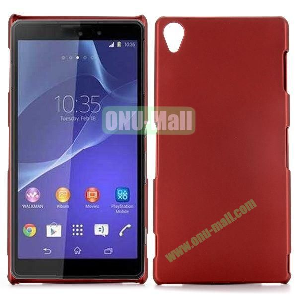 Rubber Coated Matte Hard Case for Sony Xperia Z3 D6603 D6653 (Red)
