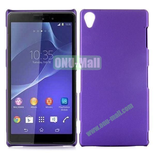 Rubber Coated Matte Hard Case for Sony Xperia Z3 D6603 D6653 (Purple)
