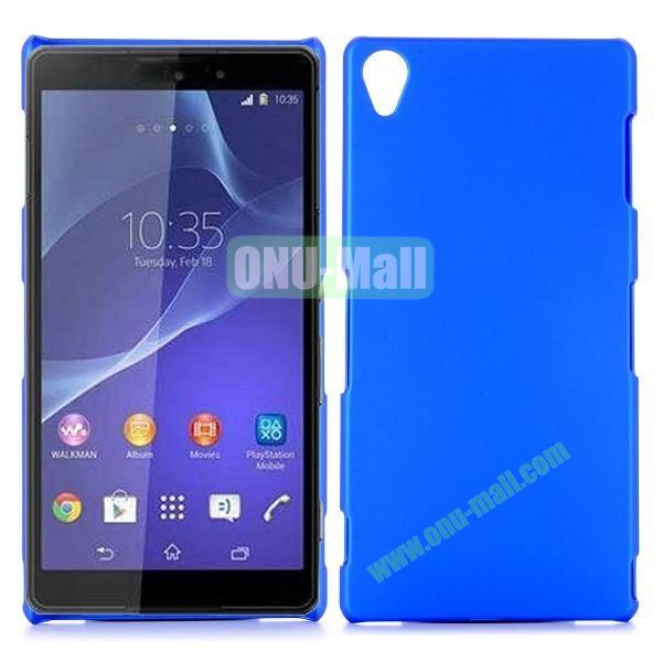 Rubber Coated Matte Hard Case for Sony Xperia Z3 D6603 D6653 (Dark Blue)