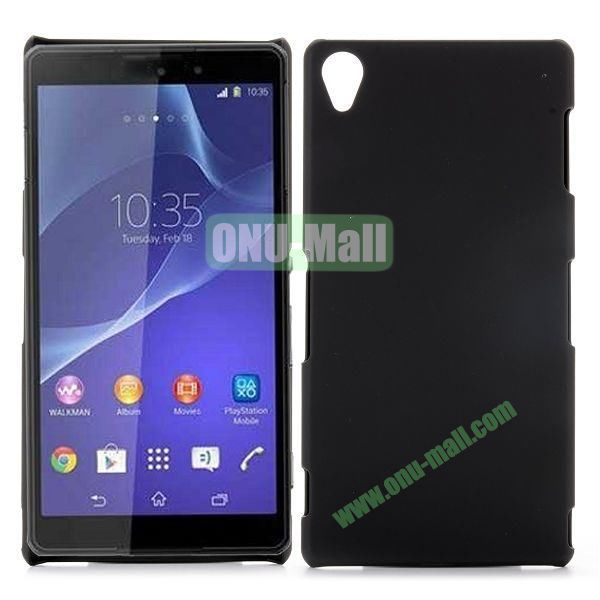 Rubber Coated Matte Hard Case for Sony Xperia Z3 D6603 D6653 (Black)
