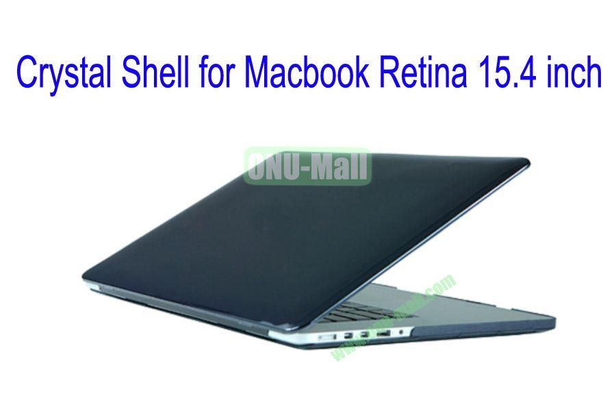 New Arrival Crystal Hard Shell Rubberized Case for Apple Macbook 15.4 inch Retina(Black)