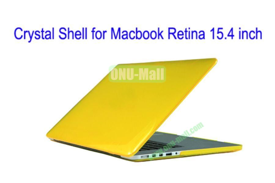 New Arrival Crystal Hard Shell Rubberized Case for Apple Macbook 15.4 inch Retina(Yellow)
