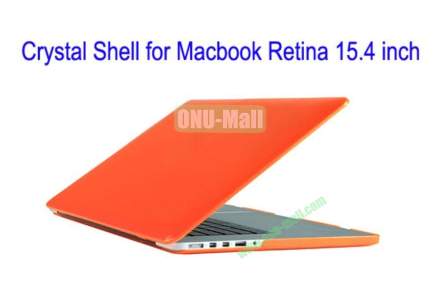 New Arrival Crystal Hard Shell Rubberized Case for Apple Macbook 15.4 inch Retina(Orange)
