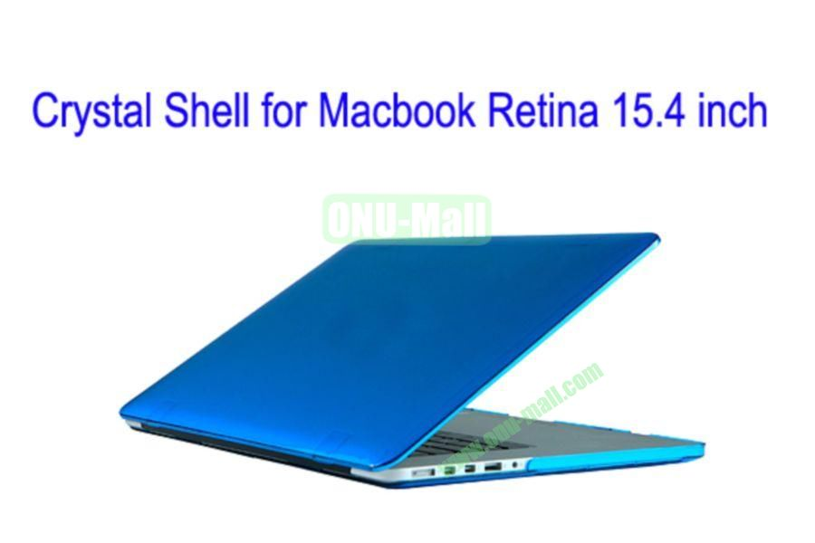 New Arrival Crystal Hard Shell Rubberized Case for Apple Macbook 15.4 inch Retina(Blue)